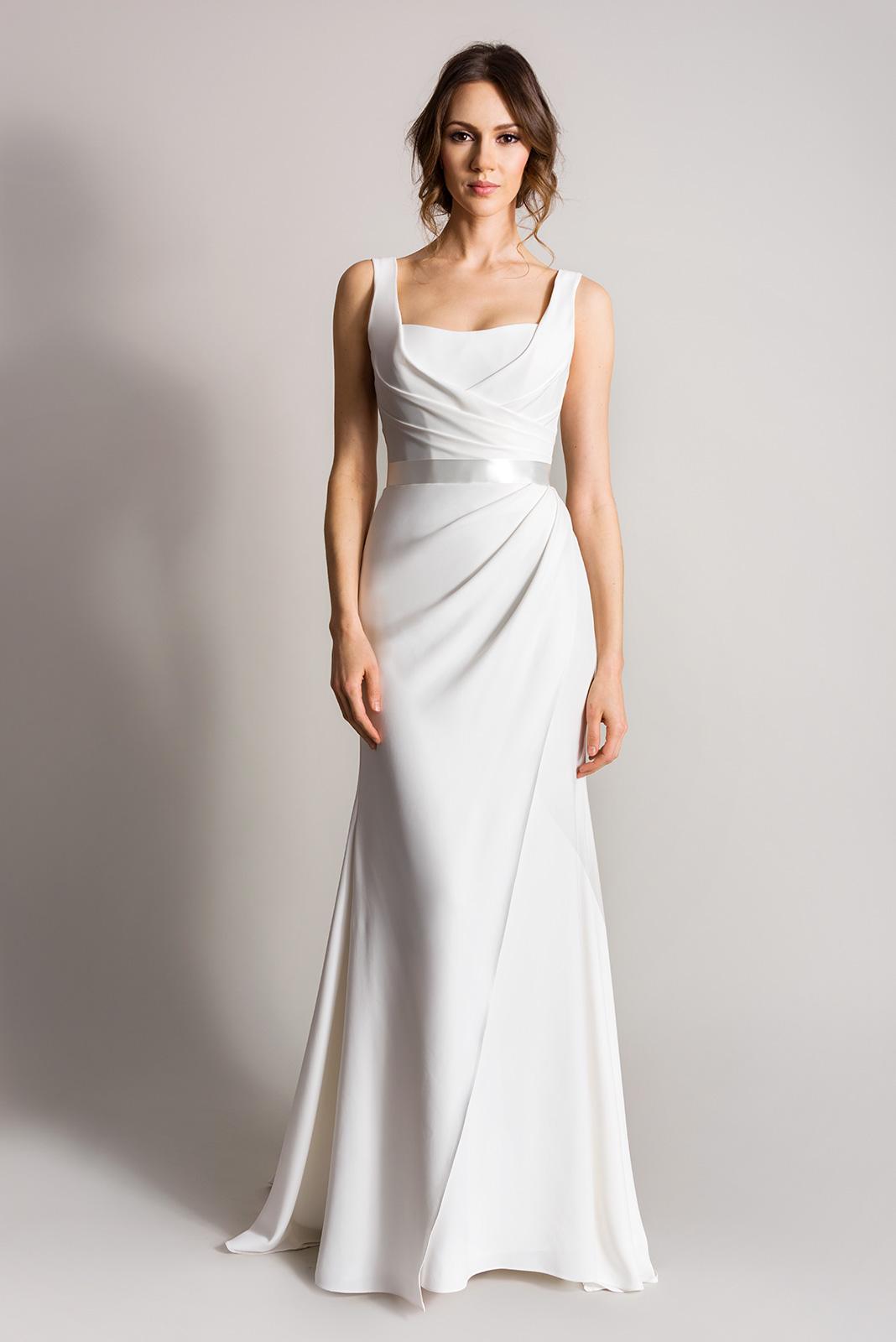 Sleek And Minimalist Wedding Dresses For Modern Brides