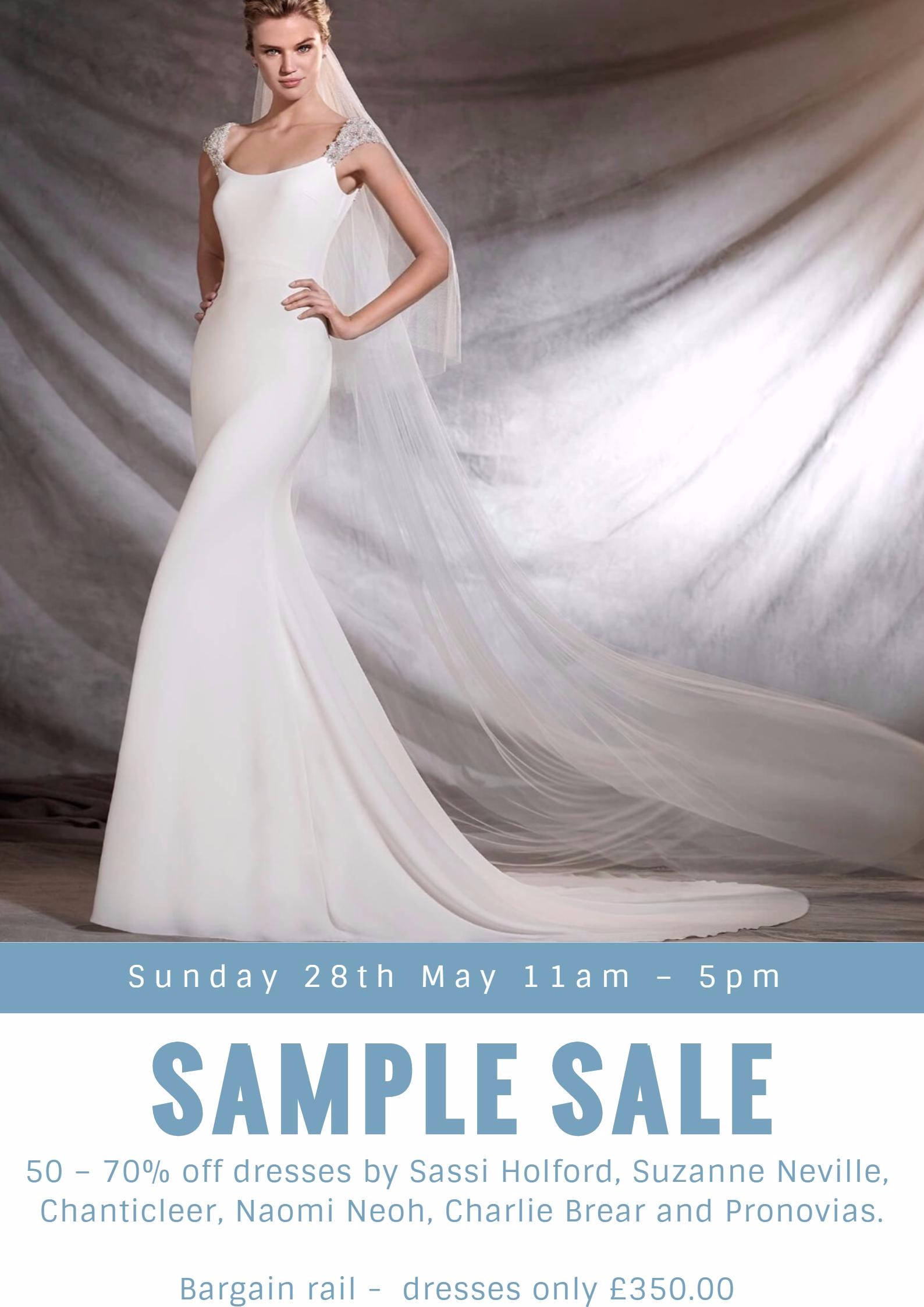 Mid Season Sample Sale - 28 May 2017 - Brides of Winchester