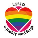 Lesbian Gay Bi Transgender. Equality Weddings.