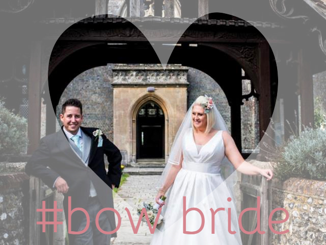 Bride Natalie in Corbel wedding dress by Suzanne Neville