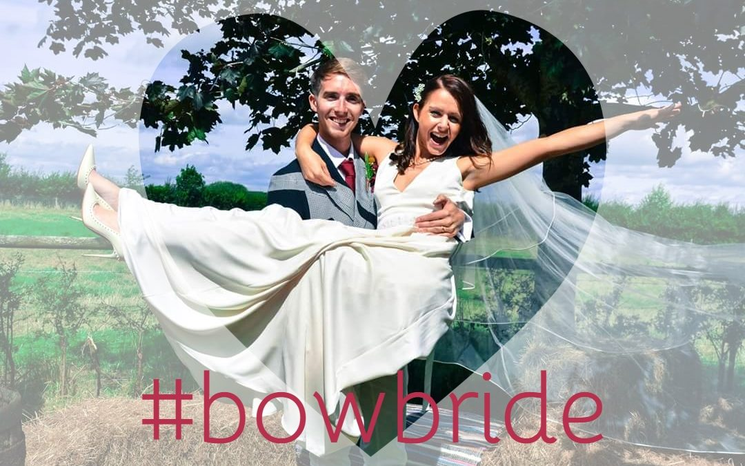 BOW bride Georgie in bridal gown Harwood by Charlie Brear