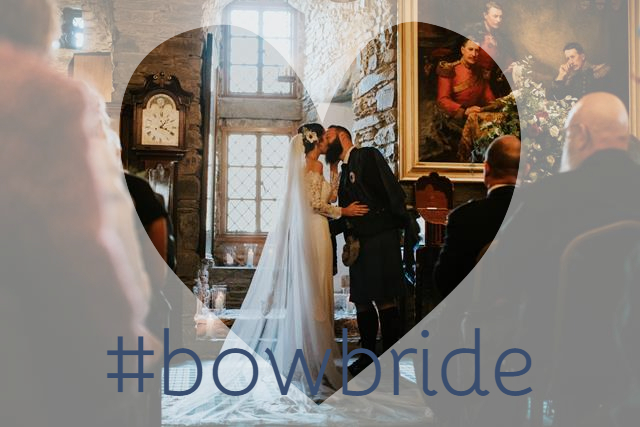 Katrina in exquisite wedding gown Dracma by Pronovias at Eilean Donan Castle