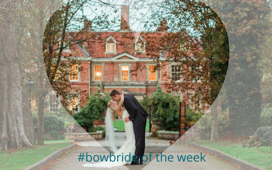 #bowbride Laura in Pronovias at Lainston House