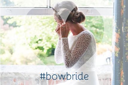 BOW bride Denise in Bespoke Chanticleer Wedding Dress