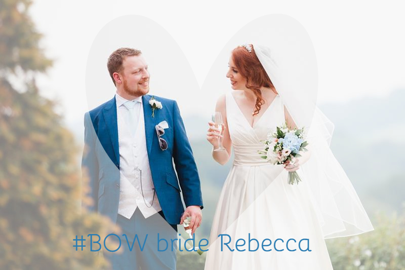 #BOW bride Rebecca in wedding gown Ocumo by Pronovias