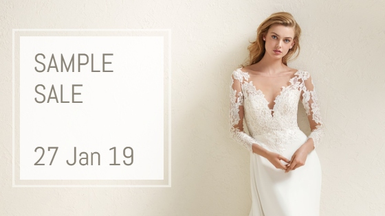 Sample Sale – up to 50% off Pronovias wedding dresses 27 January 2019